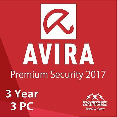 Avira AntiVirus Pro Version 2016 Premium Security 3 years 3 PC licence key