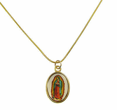Catholic Our Lady of Guadalupe image medal pendant gold Saints necklace