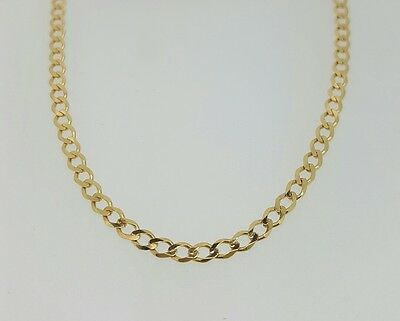 "375 9ct Yellow Gold Curb Link Necklace / Chain 16"" 18"" 20"" 22"" 24"" 26"" 28"" 30"""