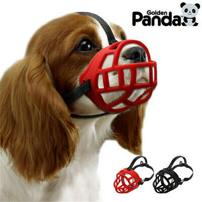 Basket Dog Muzzle for Biting Barking Adjustable Padded Soft Cage Muzzle 6 Sizes