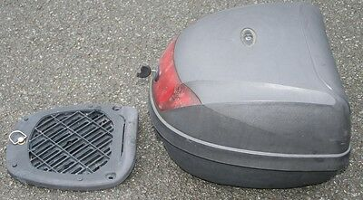 Scooter Moped 28 Litre Black Top Box Fast Uk Post