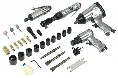 New! SA2004KIT SEALEY AIR TOOL KIT 4 PIECE KIT with ACCESSORIES - BRAND NEW!