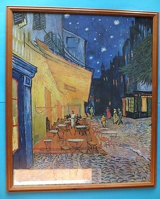 Café Terrace at Night by Vincent van Gogh Lge Framed Fine Art Reproduction Print