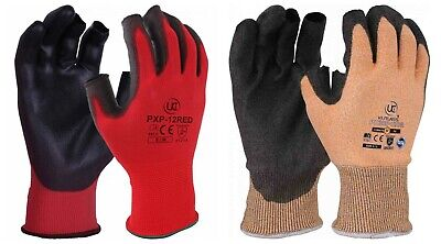 UCI Colour Coded Partially Fingerless Site Safety Work Gloves - Hand Protection