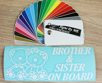Brother & Sister On Board Sticker Vinyl Decal Adhesive Window Bumper Tailgate WH