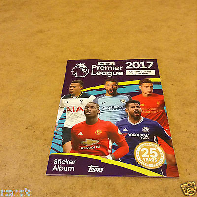 Topps Merlin's Premier League 2017 Official Sticker Album + 6 Stickers Brand New