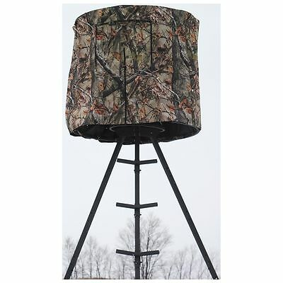 Tripod Deer Stand Blind Hunting Universal Round Camo Concealment Stay Protected