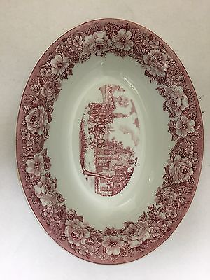 Shenango China Rose Trim Victorian Scene Bowl, 600-I