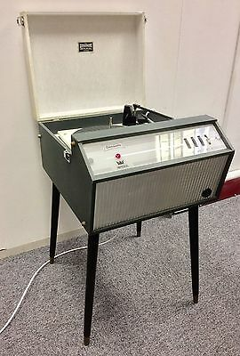Original Vintage 1960s Grey Dansette Imperial & Legs Record Player FWO Serviced