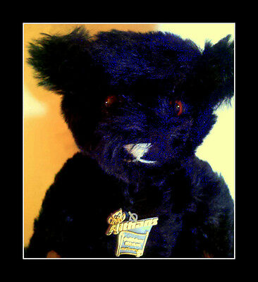 Rare Althans Teddy Bear, Black,1985, Jointed with papers Ltd Signed 12/70 Kessel