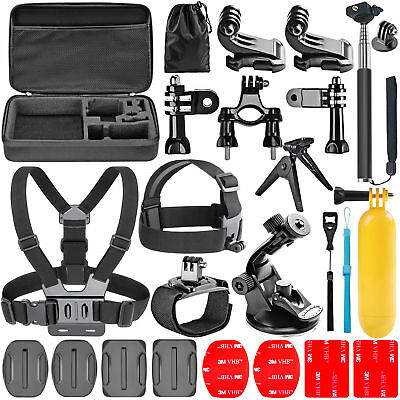 44 in 1 Pole Head Chest Mount Strap GoPro Hero 2 3+ 4 Camera Accessories Set Kit