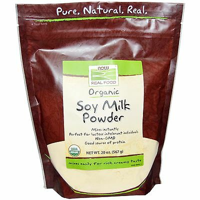 Dairy Free Organic Soya/Soy Milk  Now Foods Powder Rich 41 Servings 567g