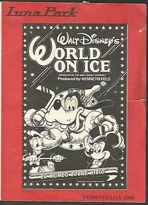 Programme Luna Park Stadium Walt Disney World On Ice 1988