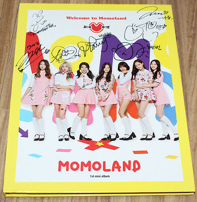 MOMOLAND 1ST MINI ALBUM Welcome to Momoland REAL SIGNED AUTOGRAPHED PROMO CD #1