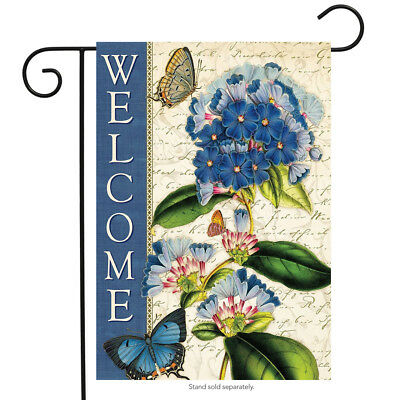 """Aruba Welcome Spring Garden Flag Floral Butterfly 12.5"""" x 18"""" Briarwood Lane"""