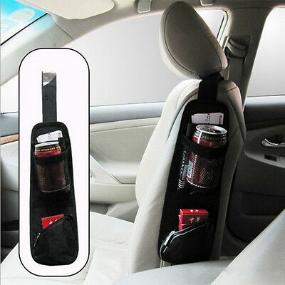 Car Interior Seat Covers Hanging Cup Bags Collector Storage Seat Side Bag