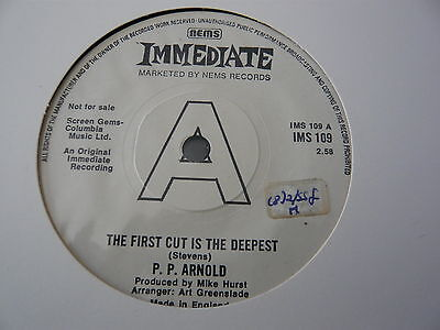 """P.p Arnold..the First Cut Is The Deepest..promo Female Soul Mod 45Rpm 7""""..minty"""
