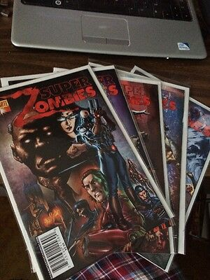 Super Zombies Complete Set Run Lot 1-5 Dynamite Comics