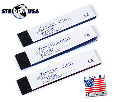 10 Box Articulating Paper Extra Extra Thin Blue (Xx-Thin) 1440 Sheet Made In Usa