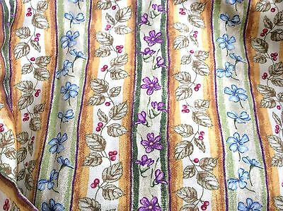 Botanical Fields Stripe Fabric Liner ONLY for CAKE Longaberger NO Basket NEW