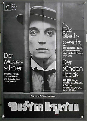 XH45D BUSTER KEATON FESTIVAL College  The goat  The paleface orig GERMAN POSTER