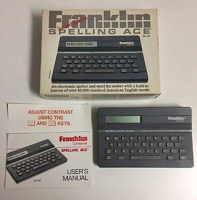 Franklin SA-98 Spelling Ace Second Edition Electronic Speller Word List Maker