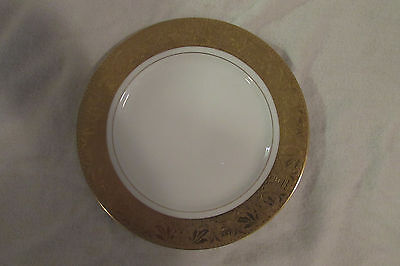 "5 Rosenthal Selb Bavaria Gold Encrusted 8 1/2 "" Luncheon Plate"