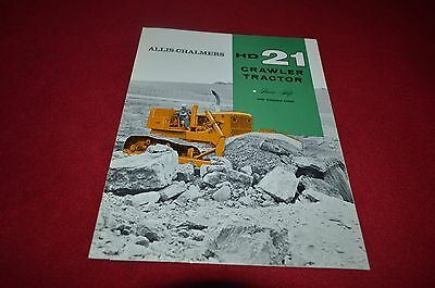 Allis Chalmers HD-21 Crawler Tractor Dealers Brochure YABE11 ver4