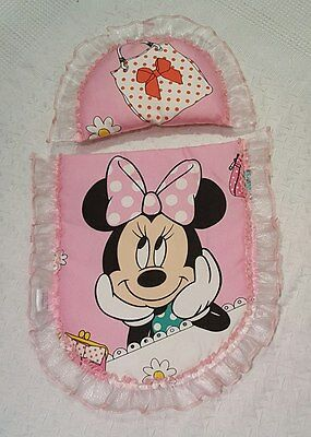Dolls Pram Set made to fit Silver Cross ranger prams  -  Minnie Mouse