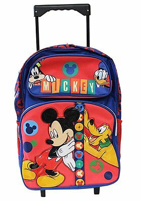 """Backpack Disney Mickey Mouse Big Face 16/"""" New 124625"""