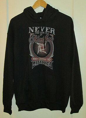 Never Underestimate Mother Who Listens To METALLICA, unisex hoodie, Large, EX