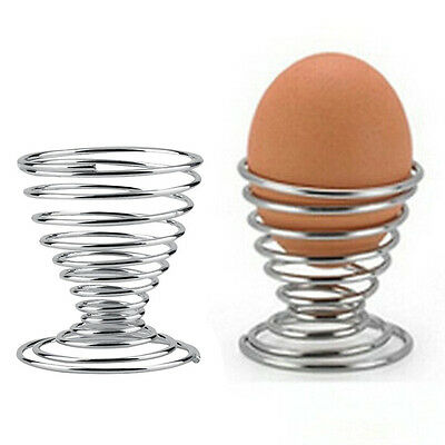 New Arrival Stainless Steel Spring Wire Tray Boiled Egg Cup Holder Stand Storage