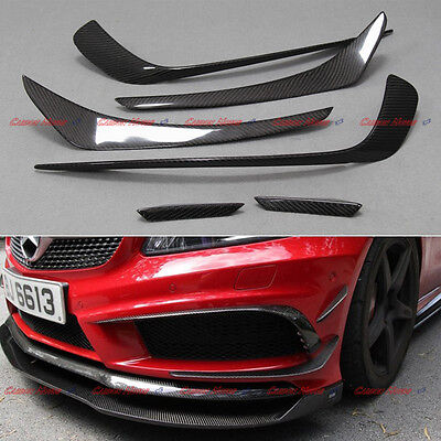 For Mercedes Benz A W176 A250 A45 AMG Carbon Fiber Front Bumper Splitter 12 - 15