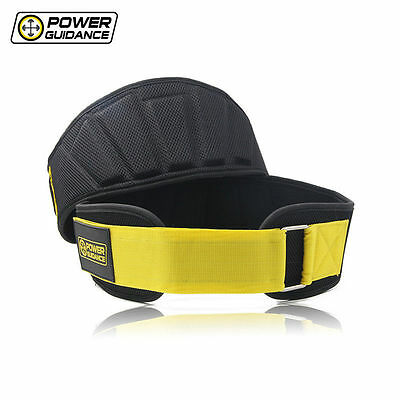Power Guidance Nylon Weightlifting Belt Waist Support Trainer Protector