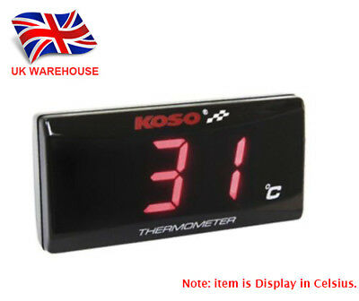 KOSO Slimline Oil/Water Thermometer LED Display Temperature Gauge Red In UK