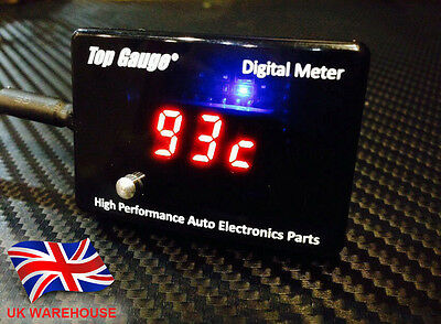 Top Gauge Motorcycle Digital Voltmeter/Oil/Water Temp Gauge Meter 3in1 In UK