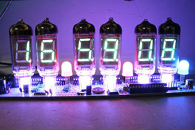 IV-11 VFD TUBE CLOCK DIY MIT FERN und ALARM 6 TUBE LÖT-KIT nixie Ära