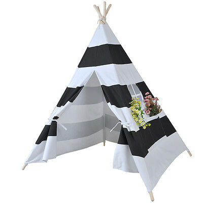 Kids WIGWAM Teepee Tepee Tipi Tent Play House Childrens Indoor Play Tent