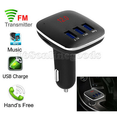 UK Bluetooth FM Transmitter MP3 Music Player USB Car Charger For Iphone Samsung
