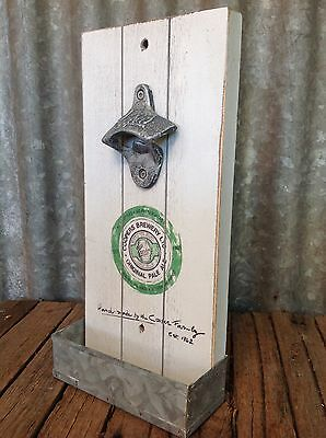 COOPERS Rustic WALL MOUNTED BOTTLE OPENER On Board WITH TOP CATCHER