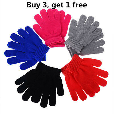 Women Children Magic Gloves & Mittens Girl Boy Kid Stretchy Knitted Warm Gloves