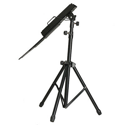 Portable Adjustable Metal Music Sheet Stand Folding Stands for Musicians Black