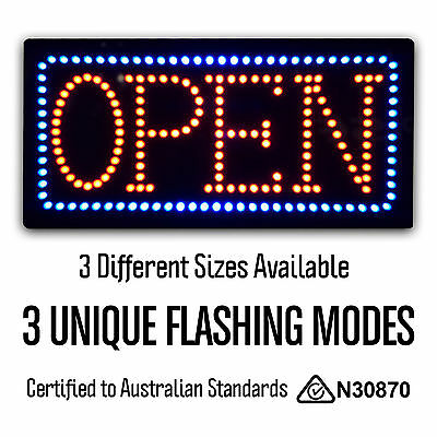 3 Size Option Epoxy LED OPEN Neon Sign for Shop Business Restaurant High Quality