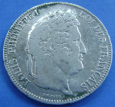 1843 Frankrijk - France - 5 Francs 1843 W  -  LOUIS PHILIPPE I° - KM# 749.13