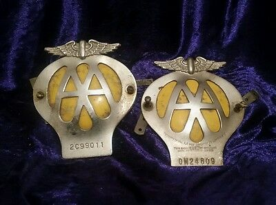 X2 Authentic AA car club badges with fittings