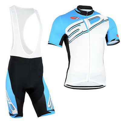 New Mens Bicycle Short Sleeve Jerseys Race Fit Bib Shorts With Padding Outfits