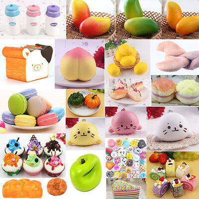 62 Styles Lovely Jumbo Squishy Bread/Panda/Cake/Buns Cell Phone Strap Kit Gift