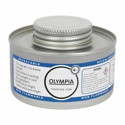 Olympia Liquid Chafing Fuel 4 Hour Cans Dish Food Heating Warming Buffet
