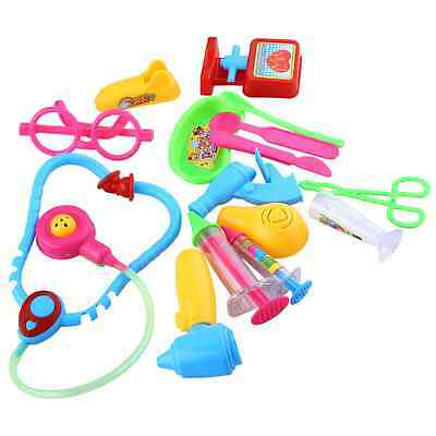 Baby Doctor Medical Play Set Pretend Carry Case Kit Role Play Child Toys 14x