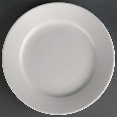 12X Athena Hotelware Wide Rimmed Plates 203mm Service Dinnerware Tableware